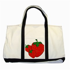 Strawberry Holidays Fragaria Vesca Two Tone Tote Bag