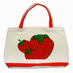 Strawberry Holidays Fragaria Vesca Classic Tote Bag (red)