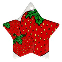 Strawberry Holidays Fragaria Vesca Star Ornament (two Sides)