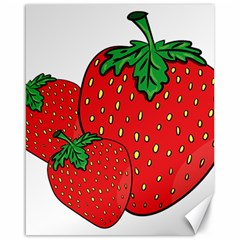 Strawberry Holidays Fragaria Vesca Canvas 16  X 20