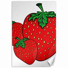 Strawberry Holidays Fragaria Vesca Canvas 24  X 36
