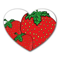 Strawberry Holidays Fragaria Vesca Heart Mousepads