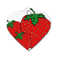 Strawberry Holidays Fragaria Vesca Dog Tag Heart (Two Sides)