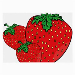 Strawberry Holidays Fragaria Vesca Large Glasses Cloth (2 Side)