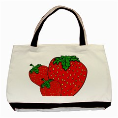 Strawberry Holidays Fragaria Vesca Basic Tote Bag (two Sides)