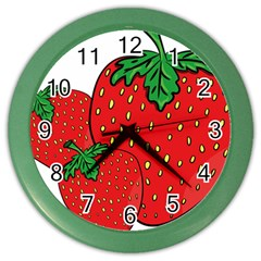 Strawberry Holidays Fragaria Vesca Color Wall Clocks