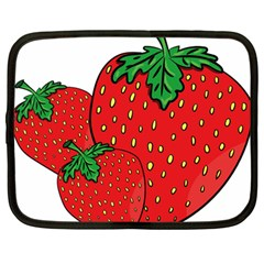 Strawberry Holidays Fragaria Vesca Netbook Case (large)