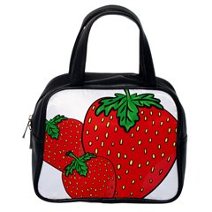Strawberry Holidays Fragaria Vesca Classic Handbags (one Side)