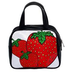 Strawberry Holidays Fragaria Vesca Classic Handbags (2 Sides)
