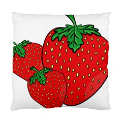 Strawberry Holidays Fragaria Vesca Standard Cushion Case (two Sides)