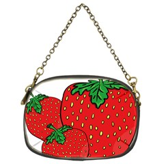 Strawberry Holidays Fragaria Vesca Chain Purses (two Sides)