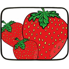 Strawberry Holidays Fragaria Vesca Double Sided Fleece Blanket (mini)