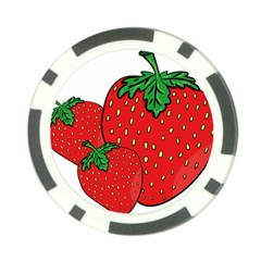 Strawberry Holidays Fragaria Vesca Poker Chip Card Guard (10 Pack)