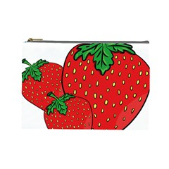Strawberry Holidays Fragaria Vesca Cosmetic Bag (large)