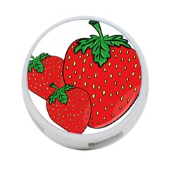 Strawberry Holidays Fragaria Vesca 4 Port Usb Hub (two Sides)