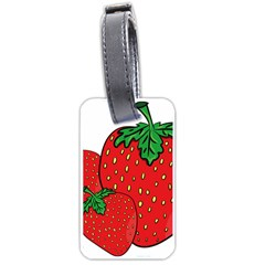 Strawberry Holidays Fragaria Vesca Luggage Tags (two Sides)