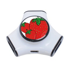Strawberry Holidays Fragaria Vesca 3 Port Usb Hub