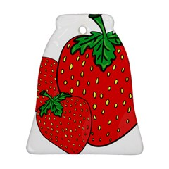 Strawberry Holidays Fragaria Vesca Bell Ornament (two Sides)