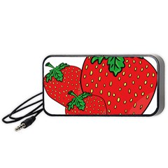 Strawberry Holidays Fragaria Vesca Portable Speaker (black)