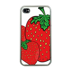 Strawberry Holidays Fragaria Vesca Apple Iphone 4 Case (clear)