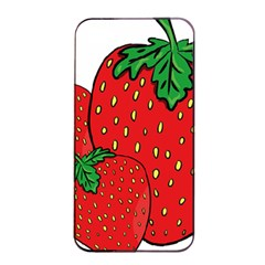 Strawberry Holidays Fragaria Vesca Apple Iphone 4/4s Seamless Case (black)