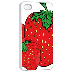 Strawberry Holidays Fragaria Vesca Apple Iphone 4/4s Seamless Case (white)