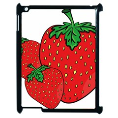 Strawberry Holidays Fragaria Vesca Apple iPad 2 Case (Black)