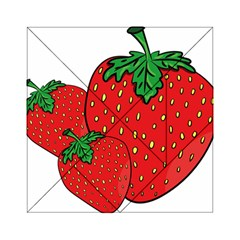 Strawberry Holidays Fragaria Vesca Acrylic Tangram Puzzle (6  X 6 )