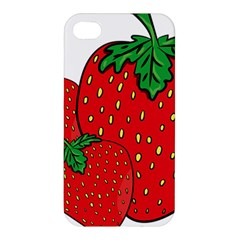 Strawberry Holidays Fragaria Vesca Apple Iphone 4/4s Premium Hardshell Case
