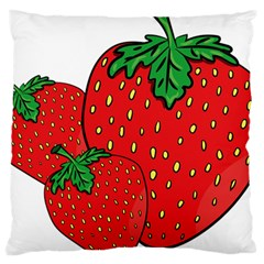 Strawberry Holidays Fragaria Vesca Large Cushion Case (one Side)