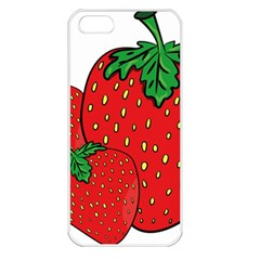 Strawberry Holidays Fragaria Vesca Apple Iphone 5 Seamless Case (white)