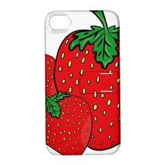 Strawberry Holidays Fragaria Vesca Apple Iphone 4/4s Hardshell Case With Stand