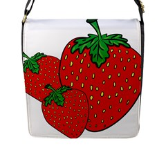 Strawberry Holidays Fragaria Vesca Flap Messenger Bag (l)
