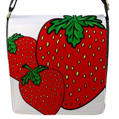 Strawberry Holidays Fragaria Vesca Flap Messenger Bag (s)