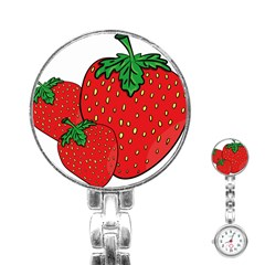 Strawberry Holidays Fragaria Vesca Stainless Steel Nurses Watch