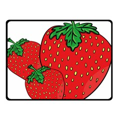 Strawberry Holidays Fragaria Vesca Double Sided Fleece Blanket (small)