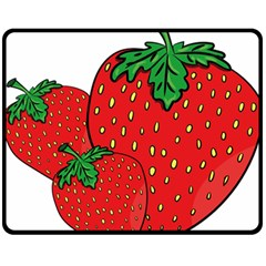 Strawberry Holidays Fragaria Vesca Double Sided Fleece Blanket (medium)