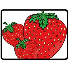Strawberry Holidays Fragaria Vesca Double Sided Fleece Blanket (large)