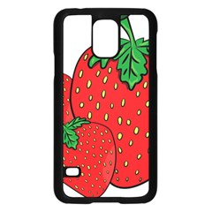 Strawberry Holidays Fragaria Vesca Samsung Galaxy S5 Case (black)