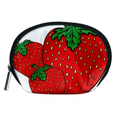 Strawberry Holidays Fragaria Vesca Accessory Pouches (medium)