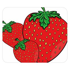 Strawberry Holidays Fragaria Vesca Double Sided Flano Blanket (small)
