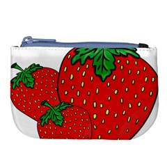 Strawberry Holidays Fragaria Vesca Large Coin Purse