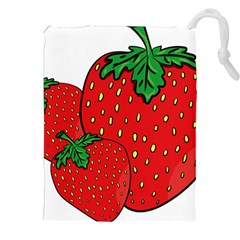 Strawberry Holidays Fragaria Vesca Drawstring Pouches (xxl)