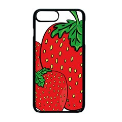 Strawberry Holidays Fragaria Vesca Apple Iphone 7 Plus Seamless Case (black)