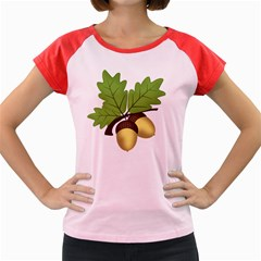 Acorn Hazelnuts Nature Forest Women s Cap Sleeve T Shirt