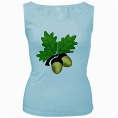 Acorn Hazelnuts Nature Forest Women s Baby Blue Tank Top