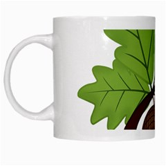 Acorn Hazelnuts Nature Forest White Mugs