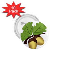 Acorn Hazelnuts Nature Forest 1 75  Buttons (10 Pack)