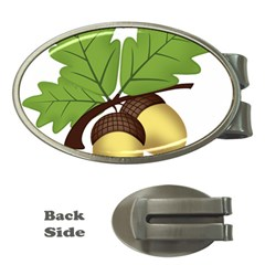 Acorn Hazelnuts Nature Forest Money Clips (oval)