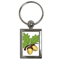 Acorn Hazelnuts Nature Forest Key Chains (rectangle)